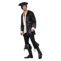 Smiffys Boekanier Piraat Jas - Zwart