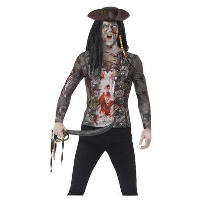 Zombie Piraat T-shirt - Groen