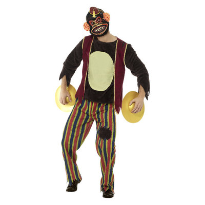 Deluxe Klappende Aap Speelgoed Kostuum - Veelkleurig