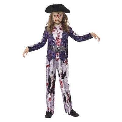 Deluxe Jolly Rotten  Piraat Meisje Kostuum - Blauw