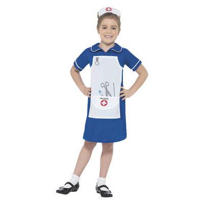 Verpleegster Kostuum - Blauw