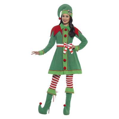 Deluxe Miss Elf Kostuum - Groen