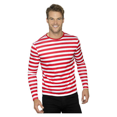 Gestreept T-shirt - Rood/wit