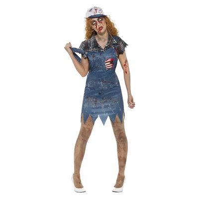 Zombie Hillbilly Kostuum - Vrouw - Blauw