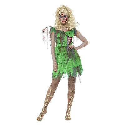 Zombie Fee Kostuum - Groen