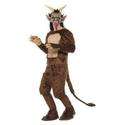 Beast / Krampus Demon Kostuum - Langharige Vacht - Brow