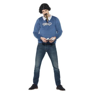 Colombiaanse Gangster Kostuum - Blauw