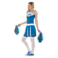 Smiffys Cheerleader Kostuum - Blauw