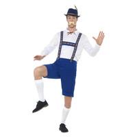 Smiffys Beiers Kostuum - Blauw