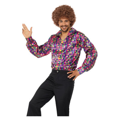 60s Psychedelische Hippie Overhemd - Multi-colored