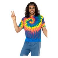 Smiffys 1960 Tie Dye T-shirt - Veelkleurig