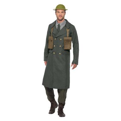 WW2 Brits  Kostuum - Met Trenchcoat - Groen