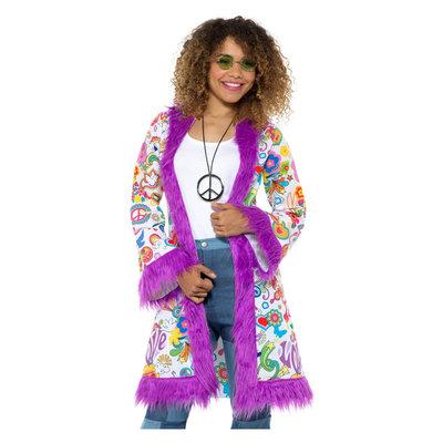 60s Groovy Hippie Jas - Veelkleurig