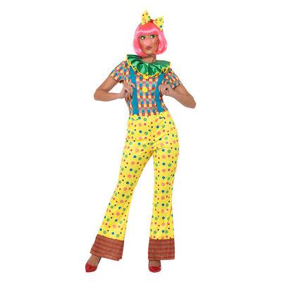 Giechel De Clown Dame Kostuum - Veelkleurig