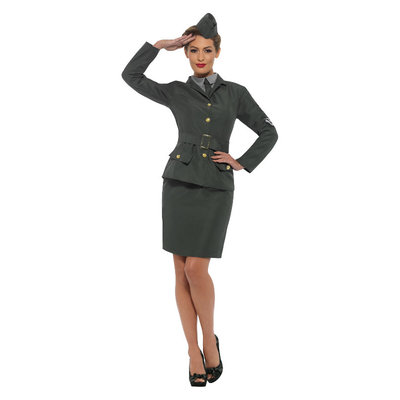 Ww2 Leger Dames Kostuum - Groen