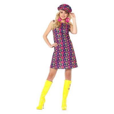 1960 Psychedelische Hippie Kostuum - Veelkleurig