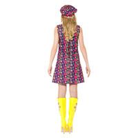Smiffys 1960 Psychedelische Hippie Kostuum - Veelkleurig