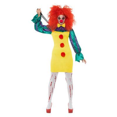 Klassieke Horror Clown Dame Kostuum - Veelkleurige