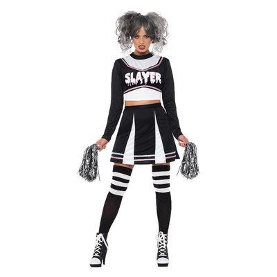 Fever Gotische Cheerleader Kostuum - Zwart