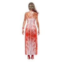 Smiffys Bloedige Prom Queen Kostuum - Wit En Rood