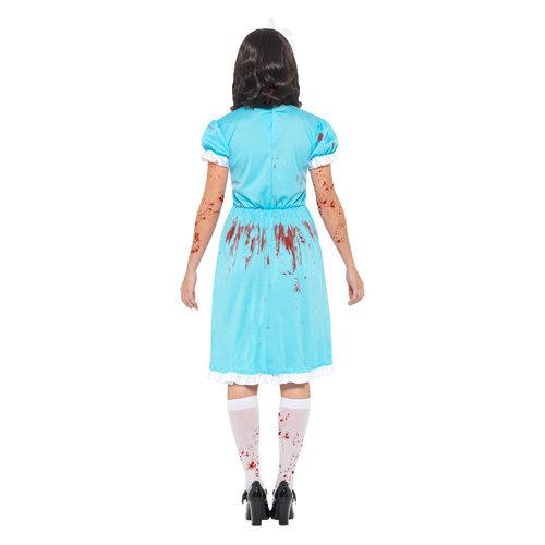 Smiffys Bloedige Moorddadige Twin Kostuum - Blauw
