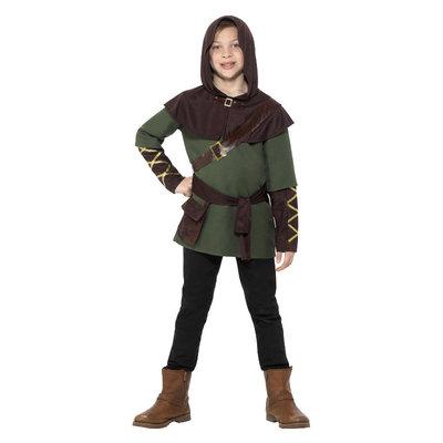 Robin Hood Jongen Kostuum - Groen En Bruin