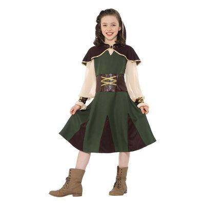 Robin Hood Meisje Kostuum - Groen En Bruin