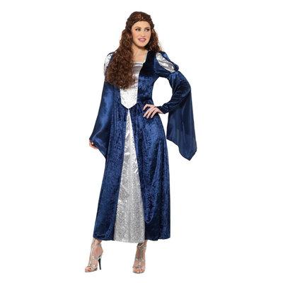 Middeleeuws dameskostuum - Blauw