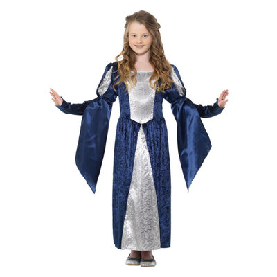 Middeleeuws Meisje Kostuum - Blauw