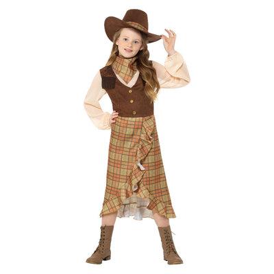 Cowgirl Kids Kostuum - Bruin
