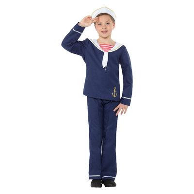 Matroos Kostuum - Blauw-wit