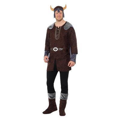 Viking Man Kostuum - Bruin