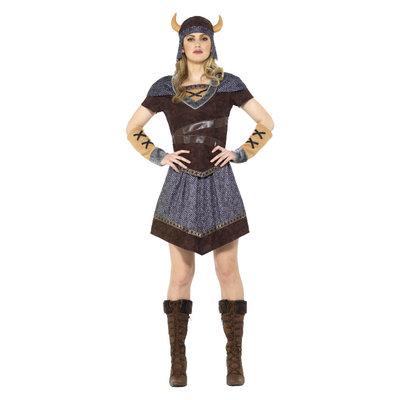 Viking Dame Kostuum - Bruin