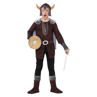 Viking Jongen Kostuum - Bruin