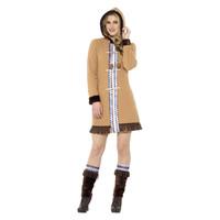 Smiffys Arctische Dame Kostuum - Bruin