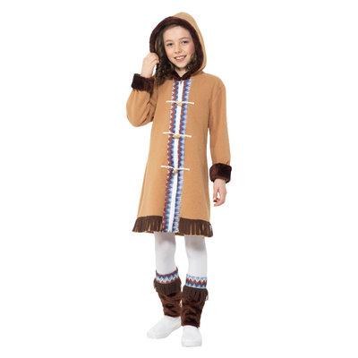 Arctische Meisje Kostuum - Bruin