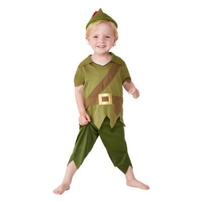 Peuter Robin Hood Kostuum - Groen En Bruin