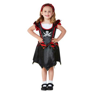 Peuter Piraat Doodshoofd Kostuum - Zwart