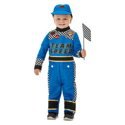Peuter Auto Bestuurder Racen Kostuum - Blauw