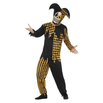 Kwade Hofnar Kostuum - Zwart En Goud