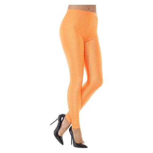 Smiffys '80 Disco Spandex Leggings - Neon Oranje