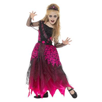 Deluxe Gothic Prom Queen Kostuum - Pink & Black