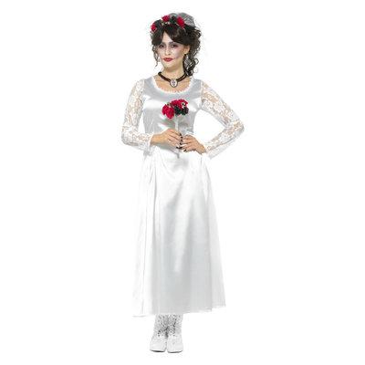 Dag Van De Doden Bruid Kostuum Wit