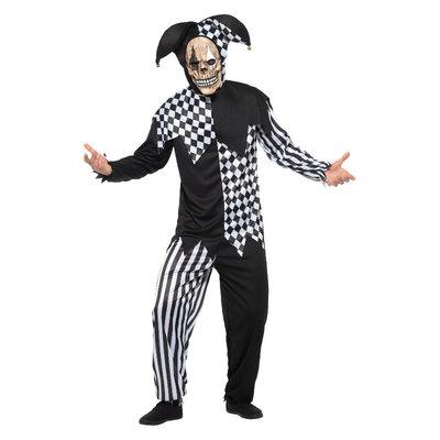 Kwade Hofnar Kostuum - Zwart-wit
