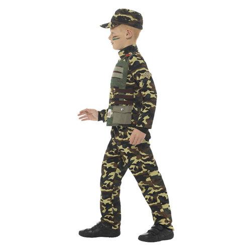 Smiffys Camouflage Militaire Jongen Kostuum - Groen
