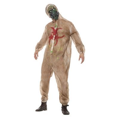Zombie Biohazard Kostuum - Bruin