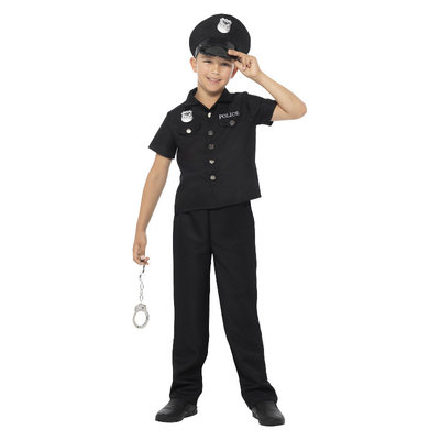 Politiepak kind - Zwart