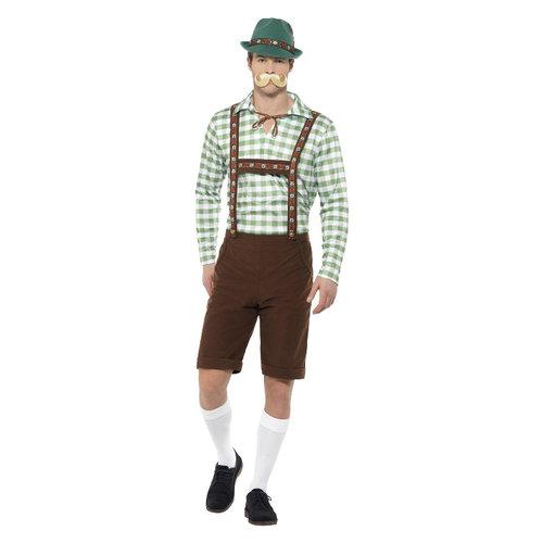 Smiffys Alpine Beiers Kostuum - Groen En Bruin