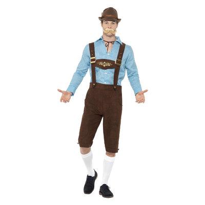 Bier Fest Kostuum - Blauw En Bruin