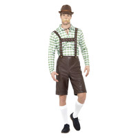 Smiffys Beierse Man Kostuum - Groen En Bruin